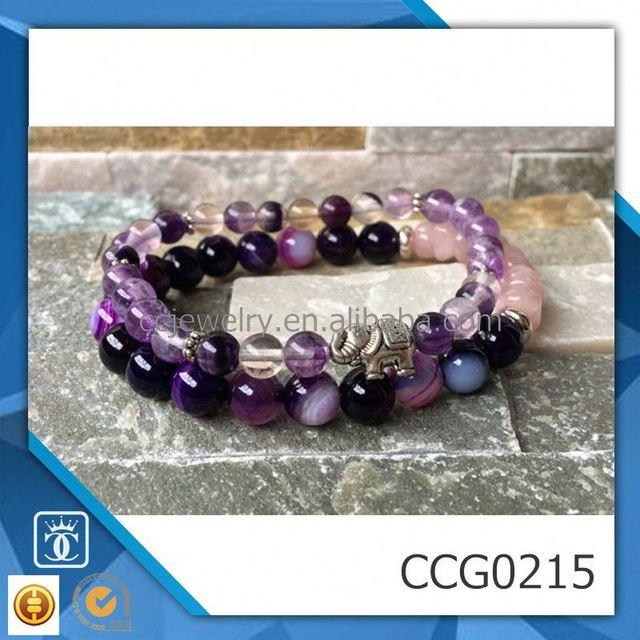New fashion hot sale trendy purple agate gemstone bracelet bangle jewelry women/kids/men charm bracelet