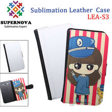 Sublimation pouch leather case for samsung galaxy s3