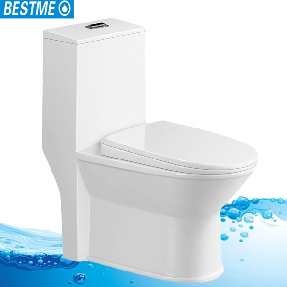 Chinese manufacture India white ceramic 4 inches toilet bowl one-piece toilet bowl
