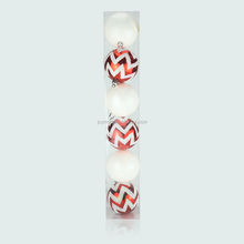 Stock Wholesale 2 Patterns Decorative 7cm Christmas Painted Hanging Balls