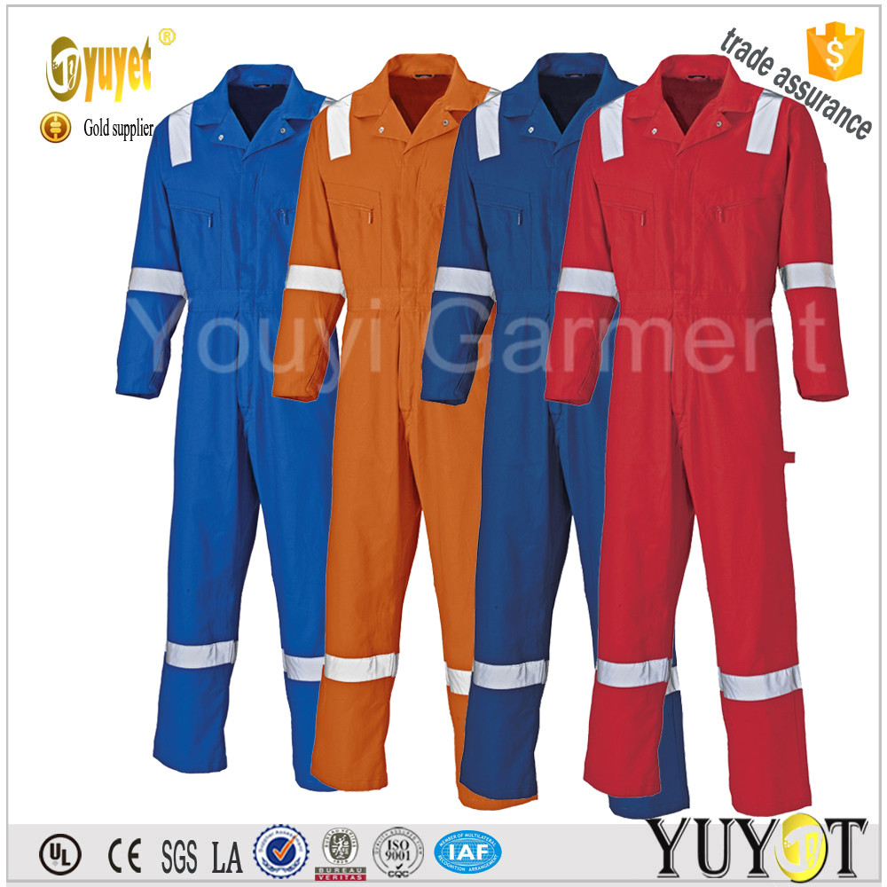 3M reflcetive tape customize Dupont Nomex IIIA Fire Resistant/Antistatic Coverall