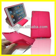 LEATHER WALLET CASE FOR iPAD MINI WITH INNER SILICONE HOLDER Smart Case Cover Red