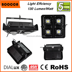 Bridgelux chip Meanwell driver high lumen 130lm/W led flood high bay light 200W