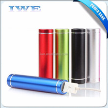 Hot portable slim lipstick 2500 mah solar power bank charger charger for iphone samsung with your branding logo