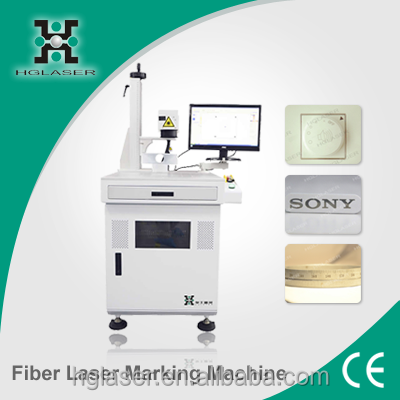 For electronic component IT industry automobile accessory 20w fiber laser marking machine for sale