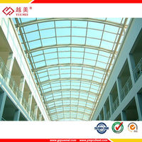 Skylight pc sheet for greenhouse cover polycarbonate roofing sheet
