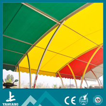 white or different kinds of color or rainbow car parking tents