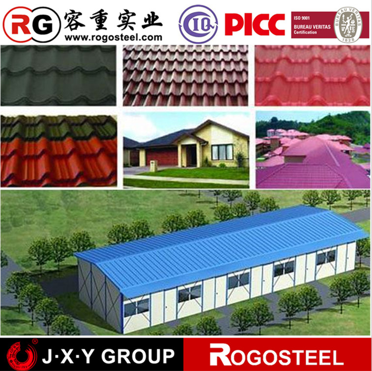 China Supplier tile effect roofing sheets with CE&ISO
