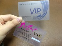 clear business card/transparent plastic business cards