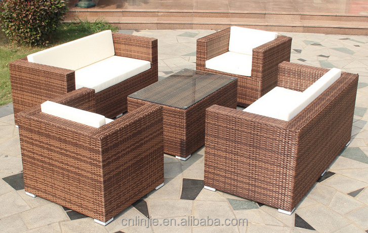 outdoor rattan wicker cube sofa tables chair sets leisure set garden furniture