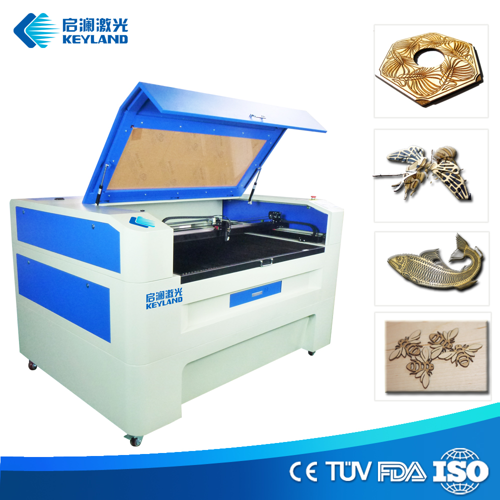 china hot sale Leather / Acrylic / Plastic / Wood / Cloths / Fabric best laser engraver cutter KQG-6040