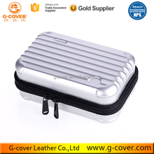 White Plastic Travel Makeup Storage Bag Hard Cosmetic Case