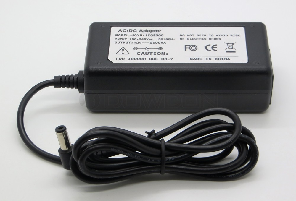 EU Plug AC 100V-240V to 12V DC 2.5A AC Adapter Power Supply Cord Charger 5.5mm x 2.1mm