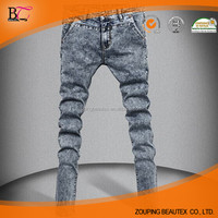 Wholesale stock cotton jeans skinny jeans for men
