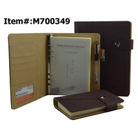 2015 Wholesale New Design Organizer Planner Agenda Leather Diary