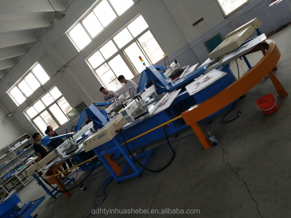 Hot Sales ! 4 Colors Oval Automatic T shirt Silk Screen Printing Machine For Sale