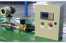 Electromagnetic flow meter with batch controller/salt water/acid flowmeter