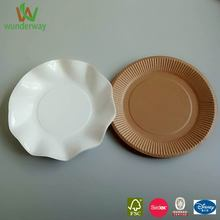 plate charger disposable kraft paperplate