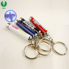 Aluminium Led Logo Promotion Gift Flashlight Projector Keychain