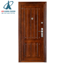 Small exterior fitting room metal door jamb