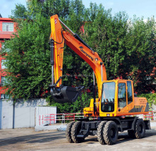JYL615E-N medium Wheeled Excavator same to Hyundai wheel excavator