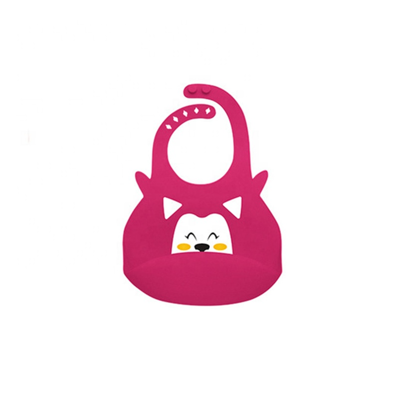 BPA free cartoon baby bibs waterproof silicone baby bibs with Food Drool Catcher Pocket
