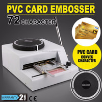 New 72 Character Letters Plastic Card Embosser Machine