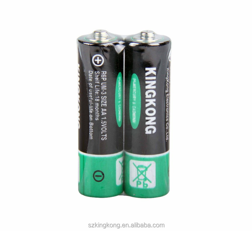 blister card packing 1.5v Zinc carbon size r6 aa battery with fast delivery time
