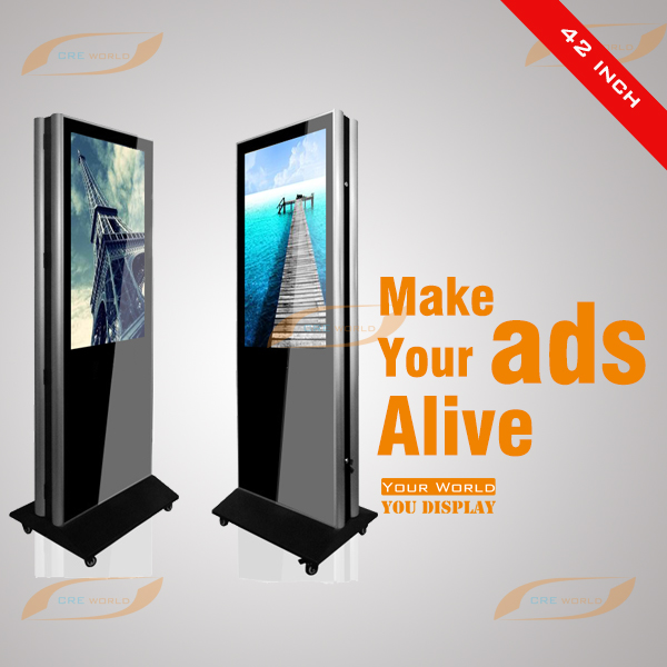 42 inch double sided lcd vertical advertising monitor