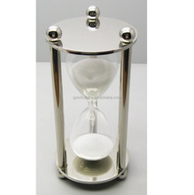 high quality stainless steel hourglass sand timer 3 minutes