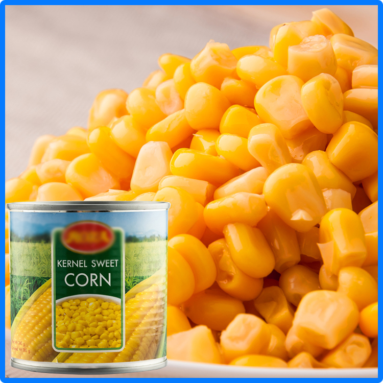 types of packing canned sweet kernel corn