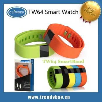 TW64 bluetooth sport smart bracelet watch Fitness Heath Tracker