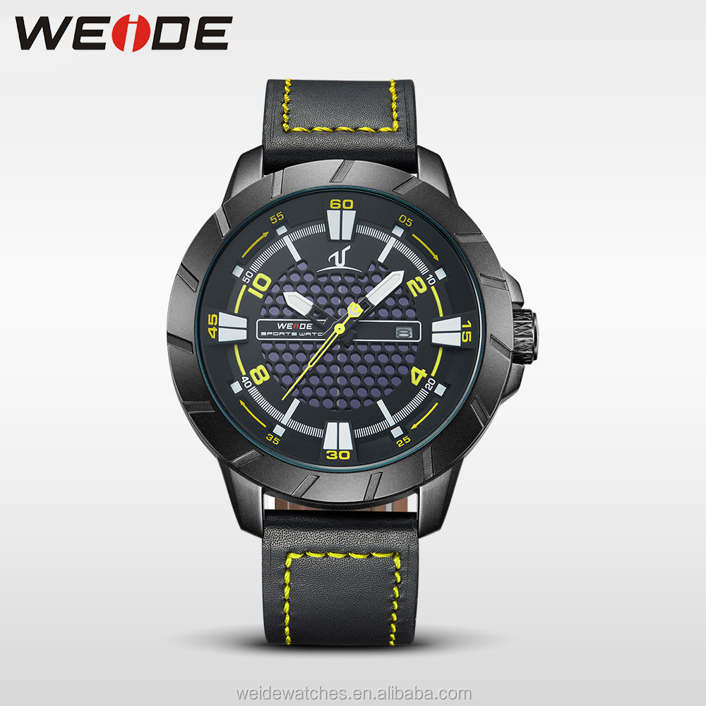 WEIDE stainless steel black case men branded watches japan movt watch sr626sw price