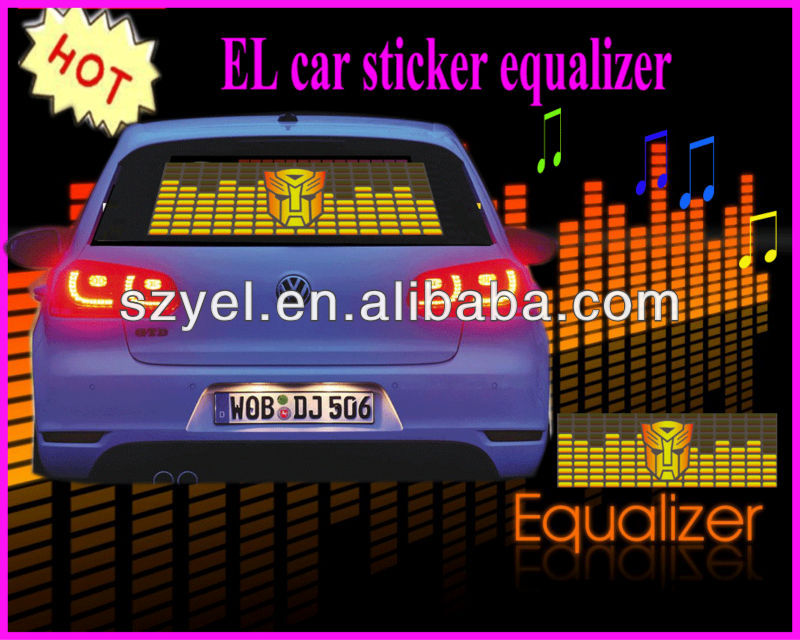 led light Car equalizer for eye catching