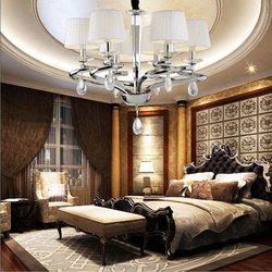 European classical fabric lamp shade celling lighting for bedroom