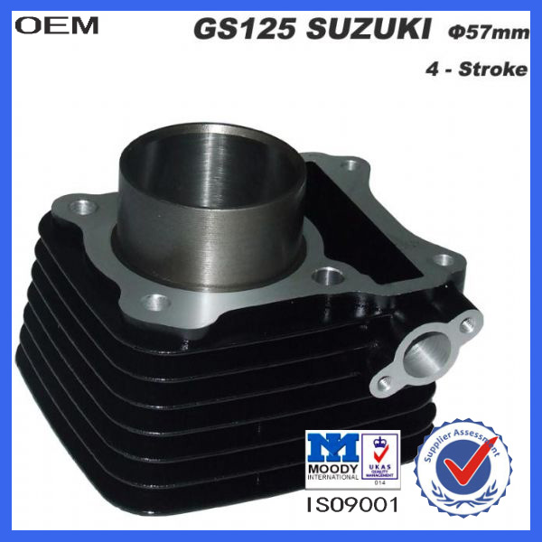 OEM suzuki gs 125 motorcycle aluminium engine block with piston kits