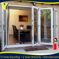 YY Aluminium Double Glazed Windows and Doors | Best price PVC Plastic Interior Folding Door