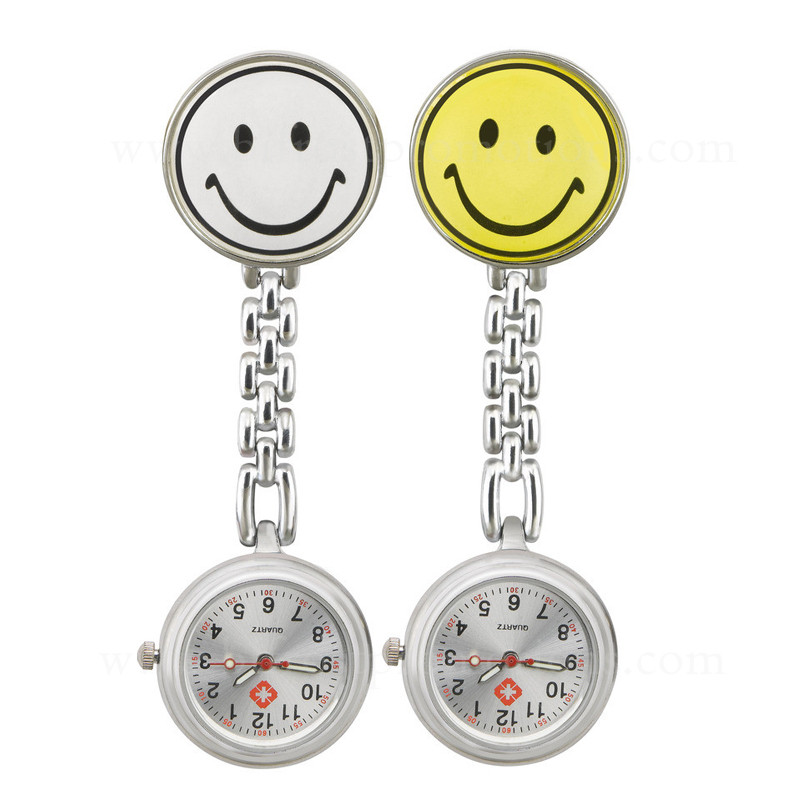 Smile Shaped Promotions Gift Brooch Nurse Watch
