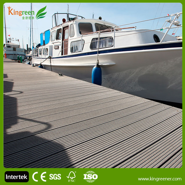 Construction Materials Eco Friendly WPC Plastic Wood Floor for Garden Decorative
