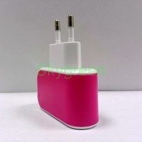 Safe Fast Charger 2.1A max EU Plug Dual USB Power Adapter Home Travel Charger