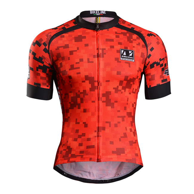 Monton Cycling Jersey Red Black Cycling Jersey Top