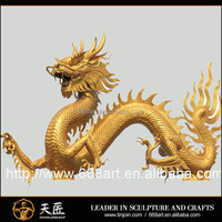 Chinese large outdoor bronze metal dragon sculpture for decoration