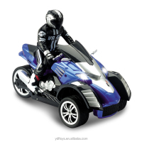 kid toys 1:10 three wheel remote control motocycle dirft rc car with battery