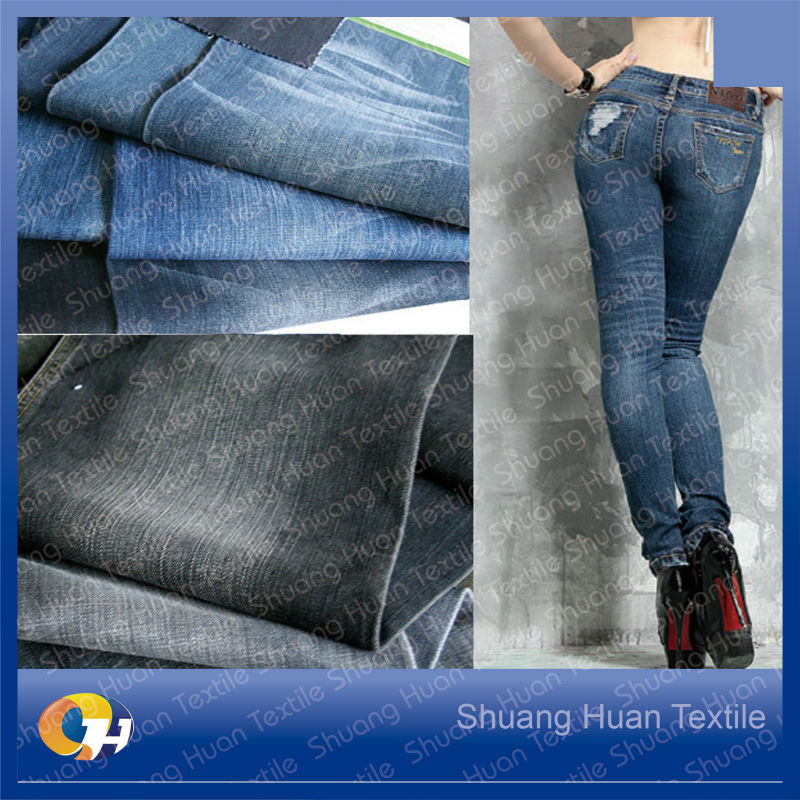 SH-J1067 9.0Z Cotton Stretched Poly Denim Fabric Stock