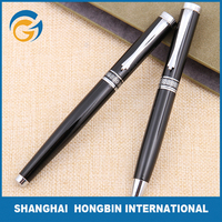 Customized Black Hotel Metal Ball Pen for Promotional Gift