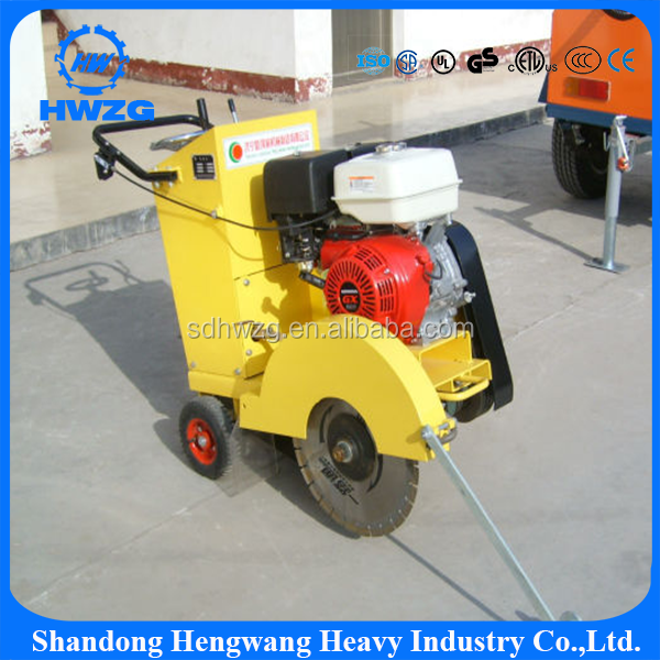diesel engine road cutter walk behind concrete cutter 9HP road cutting machine asphalt road cutter 18' asphalt cutting machine