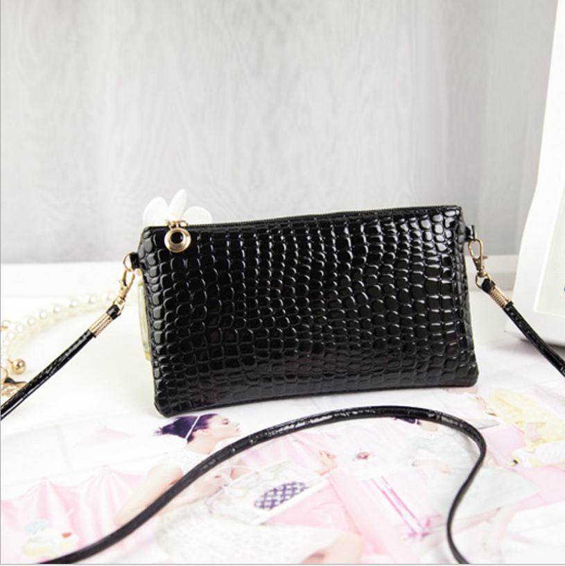 Korean fashion single shoulder pu leather crocodile lady women's shopping hand bag