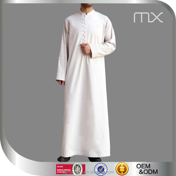 Men Saudi Style Abaya Islamic Clothing Designs From Dubai New Buttoned Thobe 2016