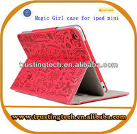 Wholesale PU Leather Magic Girl Case for tablet PC 7 inch 9.7 inch 10.1 inch