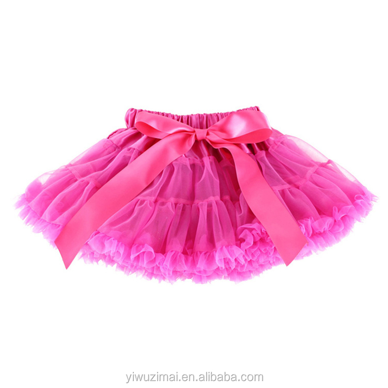 Wholesale Children Girls 20 Colors Baby Girl Fluffy Pettiskirt Girls Tutu Skirt Kids Princess Party Skirts